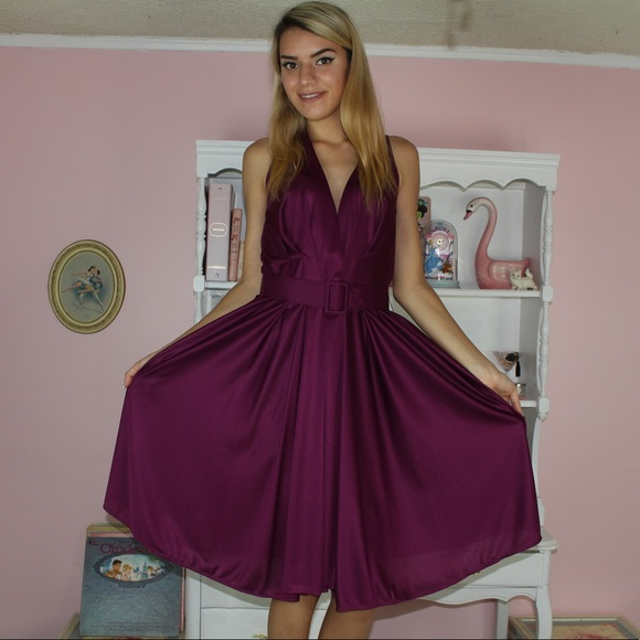 dfaed216b271e Vintage Dresses | Dress Burgundy Ilgwu 1970s Dress | Poshmark